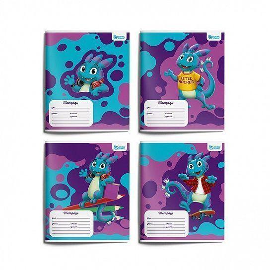 Тетрадь Schoolformat 12 листов, косая линия, SMART DINO мелованный картон, ВД-лак: купить по низкой цене оптом или в розницу с доставкой